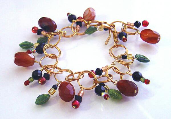 Wire jewellery ArtLinks – Autumn bracelet
