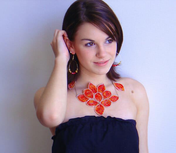 Wire jewellery – Deco Fan necklace
