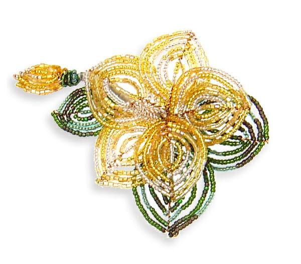 Wire jewellery – Desert Rose brooch