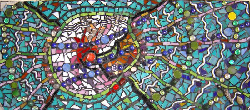 Mosaic shell mural