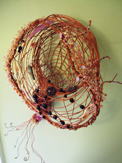 Beaded wire sculpture – Sea series 3