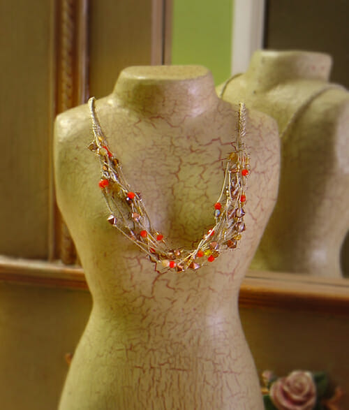 Macrame pattern – Autumn knotted necklace