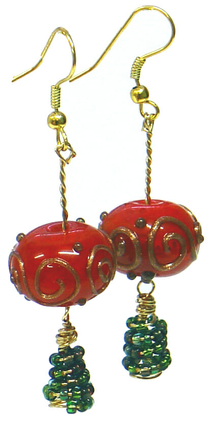 Jewellery pattern – Christmas Bauble earrings