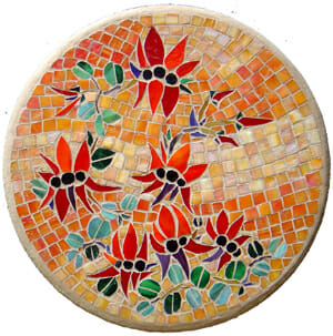 Mosaic lazy-susan by Anne Pierce