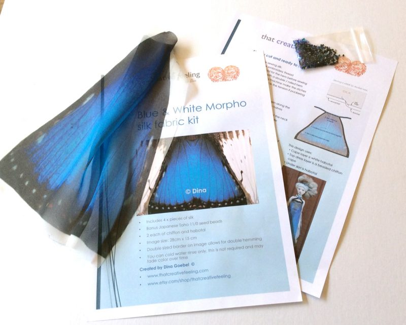 Blue morpho silk kit pic 2