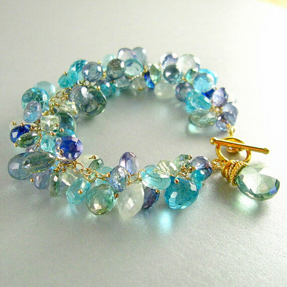 SurfAndSand - Blue and Green Gemstone Bracelet