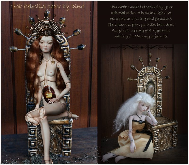 Vivid Dolls - 'Sol' Celestial Chair by Dina