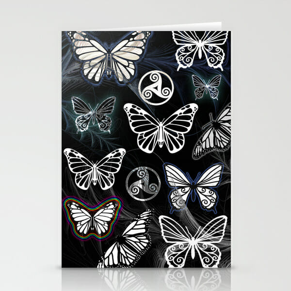 butterfly dreams black - cards