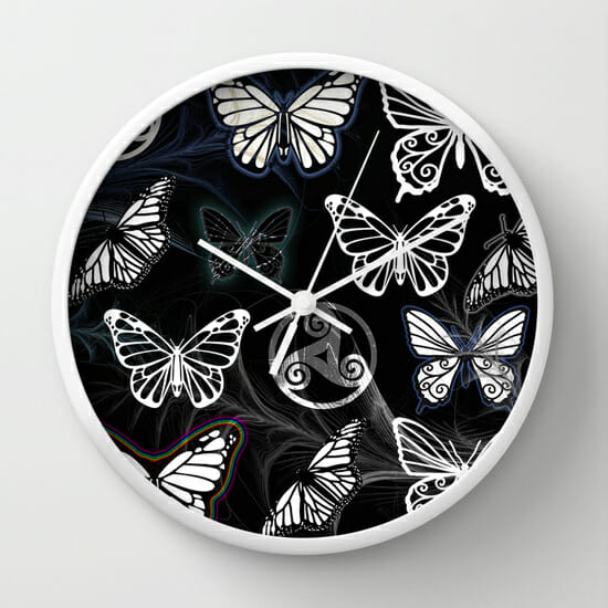 butterfly dreams black - clock