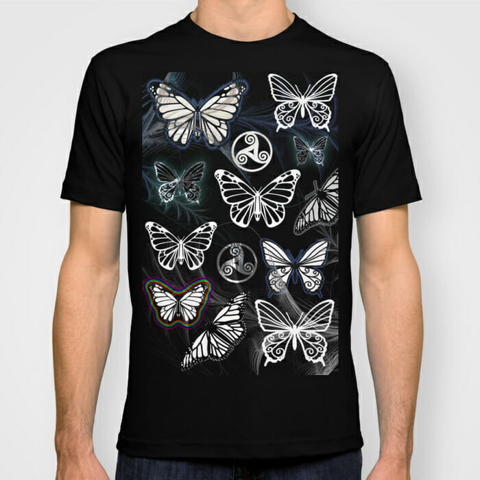 butterfly dreams black - tshirt