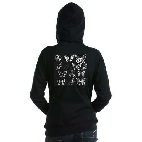 butterfly dreams black - womens_hooded_sweatshirt (1)