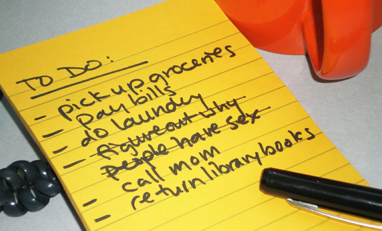 list-of-chores
