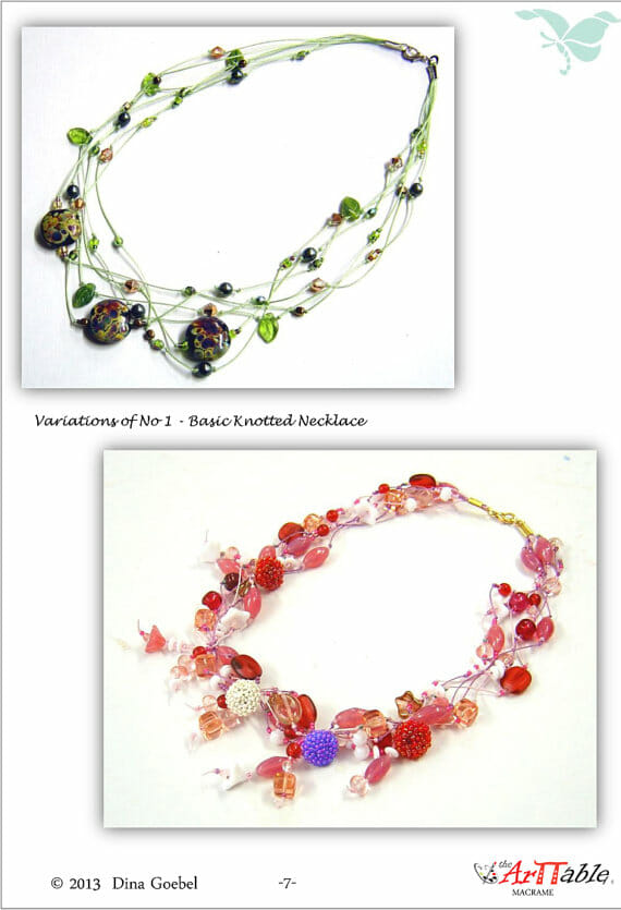 Free Macramé Booklet - knotted necklace designs from www.thatcreativefeeling.com